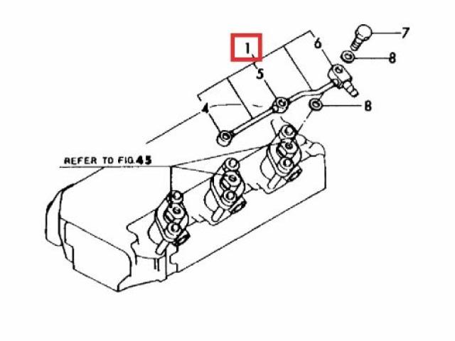 yanmar 3gm 3gm30 - fuel return pipe