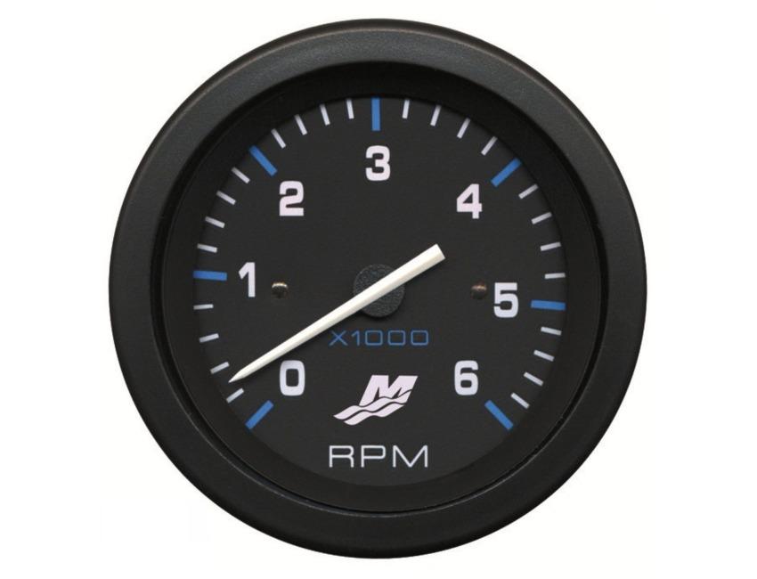 Mercury 6000 RPM Tachometer - MerCruiser - Outboard - Quicksilver - on