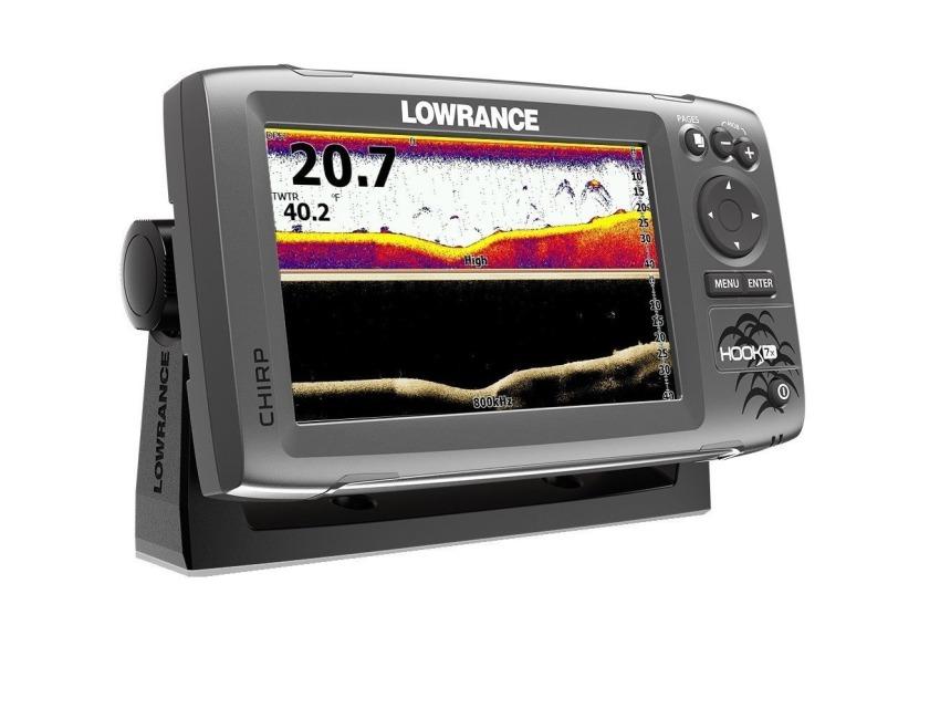 Lowrance Hook-7X Sonar Mid//High//Downscan Fishfinder
