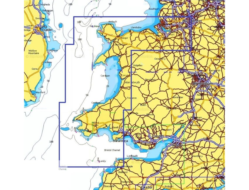 Navionics Plus Small 570 CARD - Liverpool to Gower - Wales CHART - Micro SD