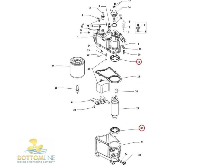 Mercury / Mariner - DFI / EFI - Fuel Pump Seal - Quicksilver - 26-883248