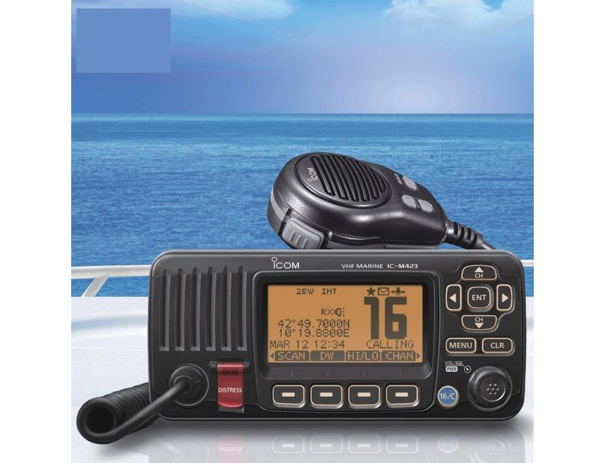 ICOM IC-M423 - Marine VHF Radio - 3 Year Warranty - Noise cancelling