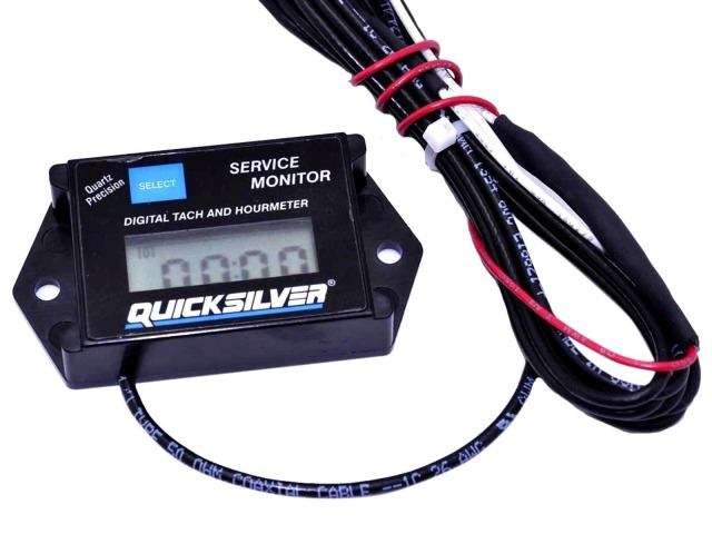 Quicksilver Digital Tach And Hour Meter
