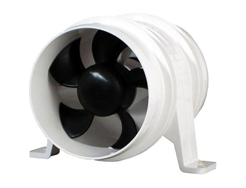 In-Line Blower White 12V Attwood Turbo 3000 Series Water-Resitant