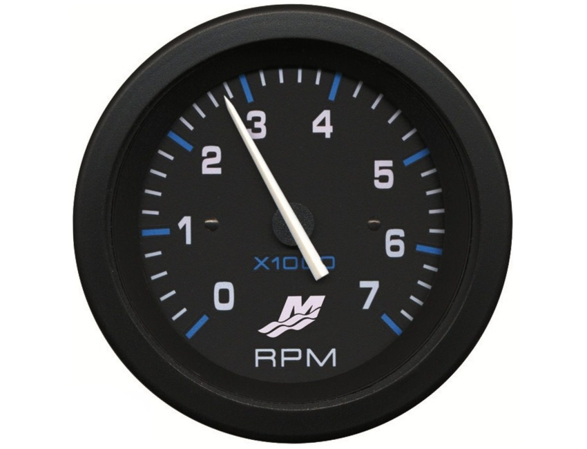 Mercury 7000 RPM Tachometer - MerCruiser - Outboard - 79-895283A05 + Loom