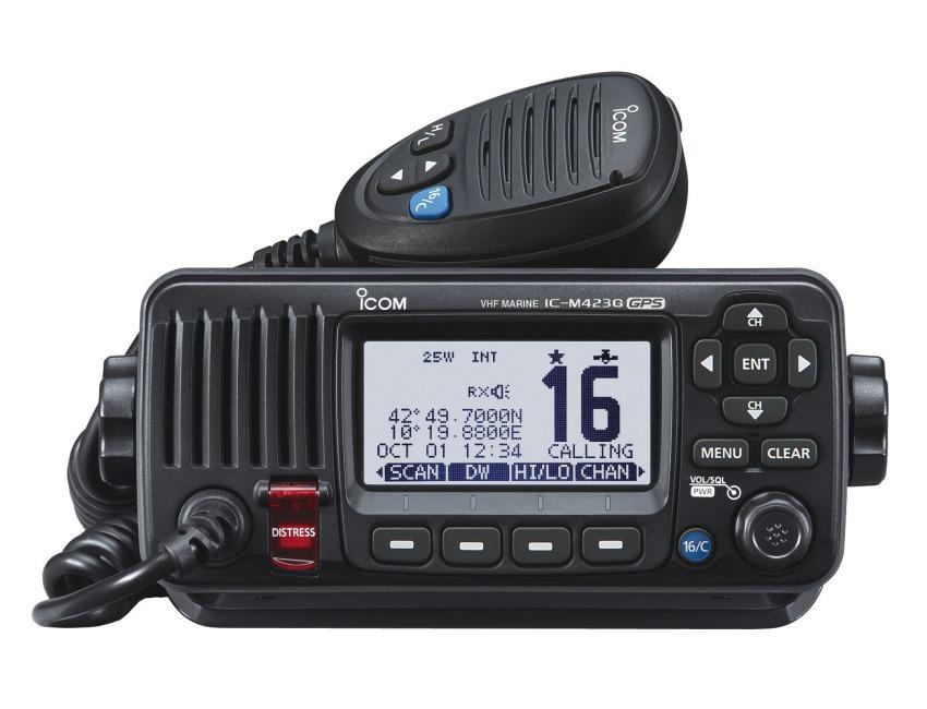 ICOM IC-M423G - Marine Waterproof Fixed VHF - 3 Year Warranty - Noise  cancelling