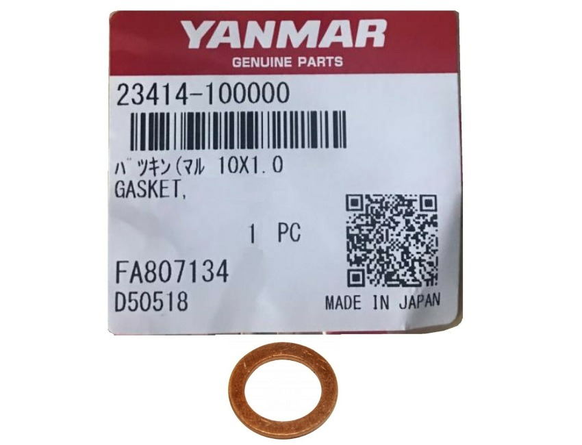 YANMAR Copper washer 23414-100000 - GM series 1GM 2GM 3GM Oil system