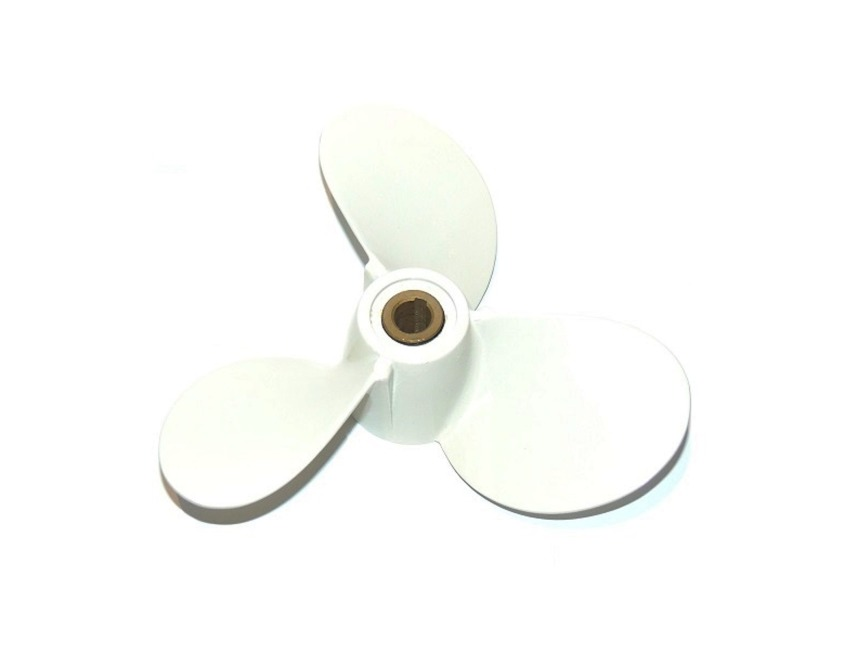 REPLACEMENT YAMAHA OUTBOARD PROPELLER,4-5hp 6E0 TYPE SHEAR PIN DRIVE.7½ x 8.