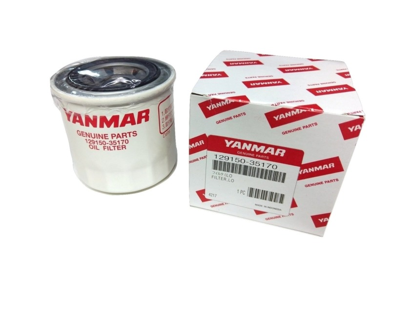 YANMAR MARINE OIL FILTER - 3JH2L-TNE - TNE TNV SERIES ENGINES -  129150-35153 / 129150-35170