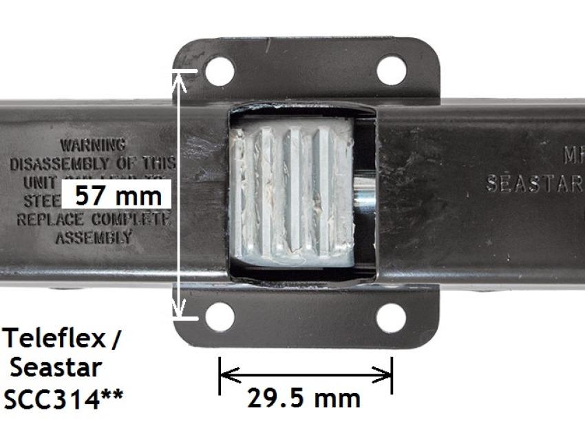 Teleflex SSC13414 Backmount Rack Single Cable 14/'