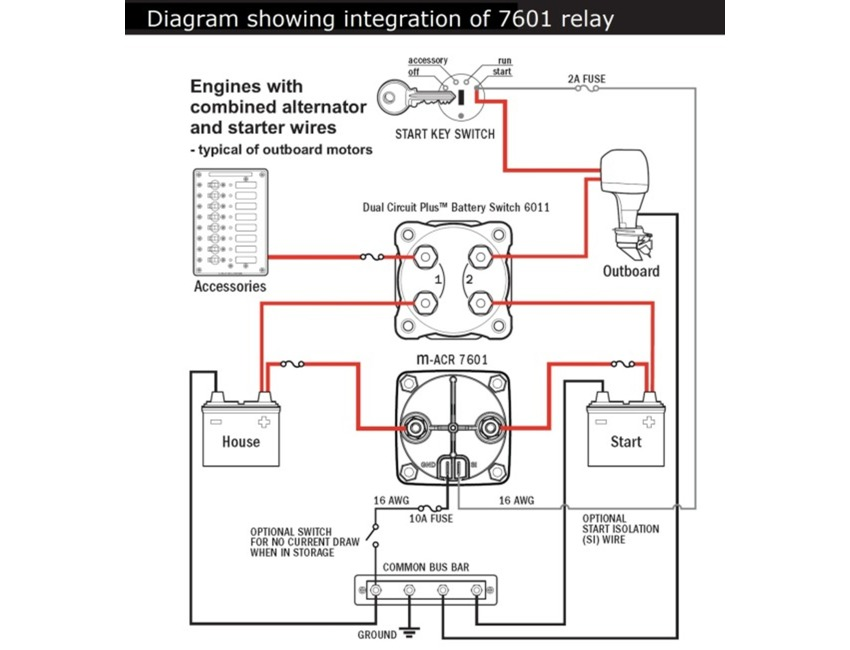 Blue Sea Systems Auto Charging Relay Vsr M Acr Pn 7601 Relays And Solenoids Bottom Line Isle Of Man