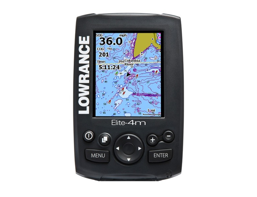 Lowrance Elite 4m - Chart Plotter - GPS - Head unit only