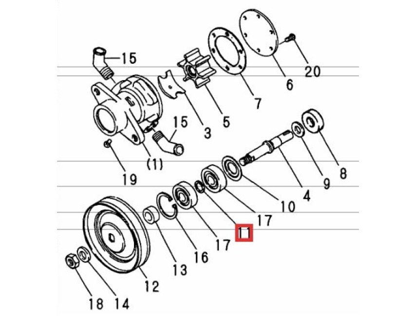 yanmar bearing spacer - gm series